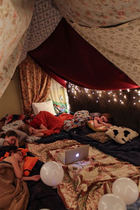 bedroom fort diy blanket fort party party ideas pinterest diy