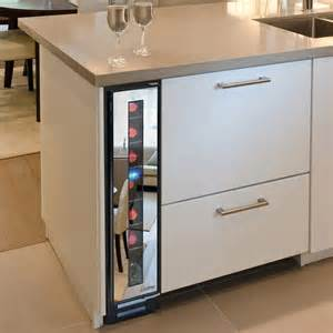 Tall Kitchen Islands Narrow Wine Cooler By Vinotemp Saves Space And Looks Cool