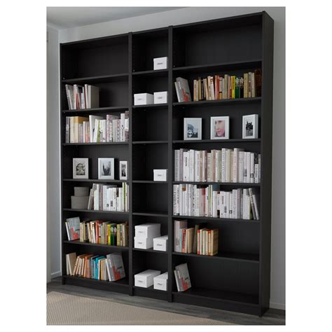 Billy Bookcase Black Brown 200x237x28 Cm Ikea Ikea Black Bookshelves