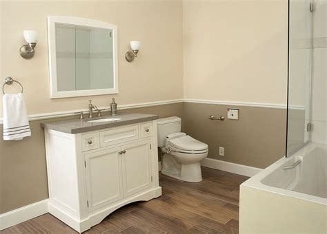 Two Tone Bathroom Color Ideas by Two Tone Walls House