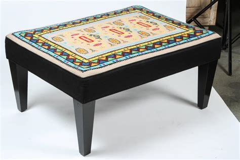 vintage ottoman for sale vintage needlepoint ottoman for sale at 1stdibs
