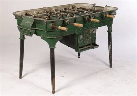 Foosball Table For Sale by Vintage Cast Metal Foosball Table For Sale At 1stdibs