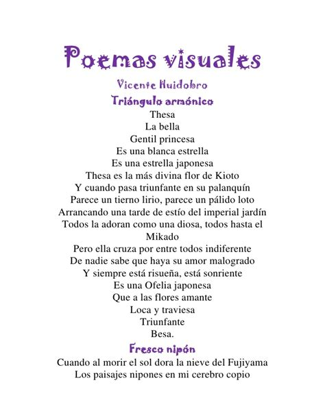 imagenes visuales en poemas poemas visuales