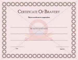 bravery certificate template certificate of bravery congratulation certificate