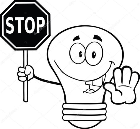 imagenes de ahorro energetico para colorear apexwallpapers com contorneado bombilla personaje sosteniendo una se 241 al de
