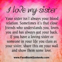 I Love You Sister Quotes by I Love My Sister Wallpapers Wallpapersafari