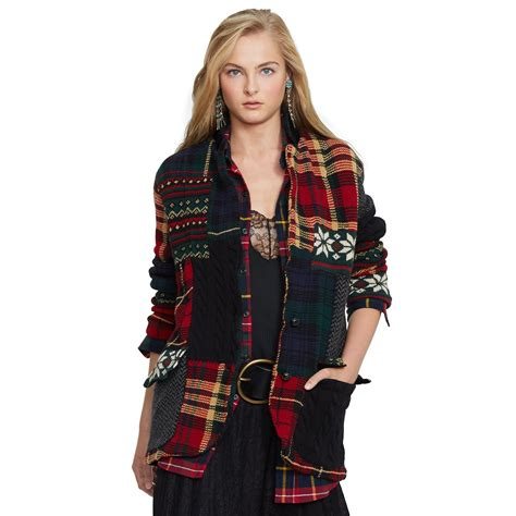 Ralph Patchwork Sweater - lyst ralph patchwork wool cardigan