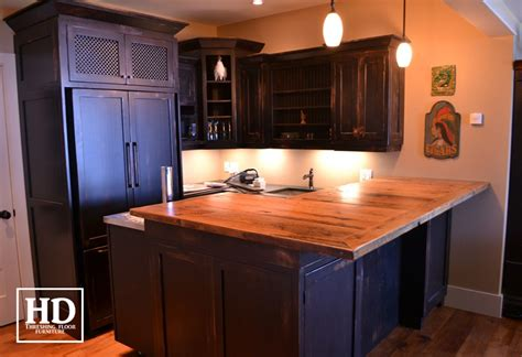 Basement Bar Island Reclaimed Wood Bar Kitchen Island Tops Hd Threshing