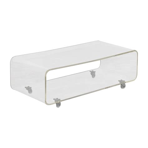 cb2 media console 48 off cb2 cb2 peekaboo acrylic media console storage