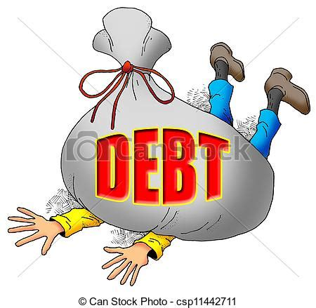 Pay Off My Debt Sweepstakes - clipart of too much debt cartoon image of someone being