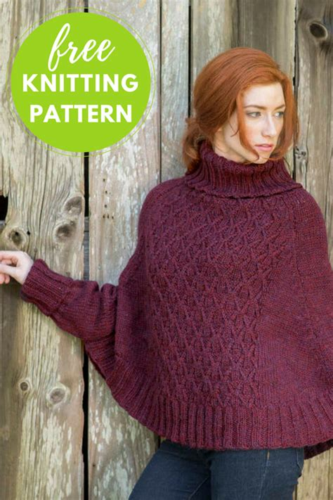 knitting pattern poncho sweater galilee poncho sweater free knitting pattern blog nobleknits
