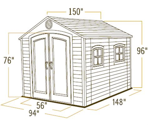Lifetime Shed 6402 by Lifetime 6402 Storage Shed Free Shipping On Each Order