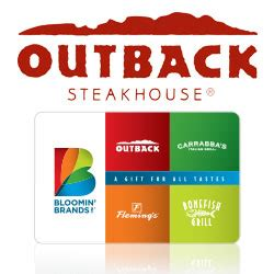 Where To Buy Outback Gift Cards - buy outback steakhouse gift cards gift cards at giftcertificates com