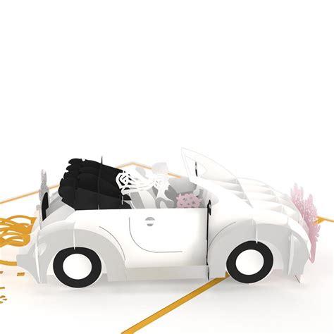 wedding car up wedding car pop up wedding card lovepop