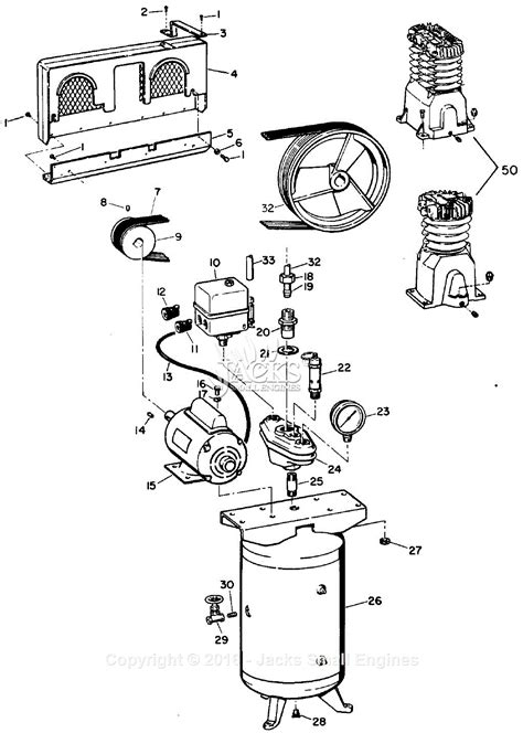 cbell hausfeld vt316901 parts diagram for air compressor parts