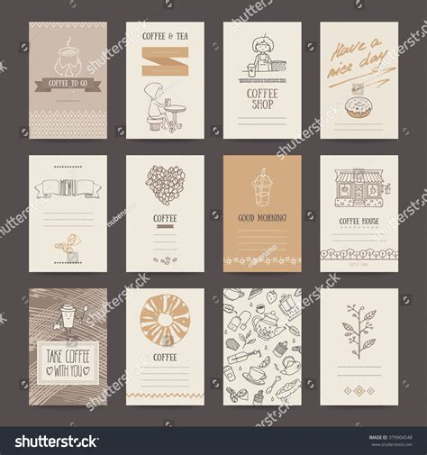 note card cafe templates coffee shop invitations cafe business cards menu pages