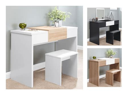 white contemporary dressing table marlow contemporary dressing table set white black