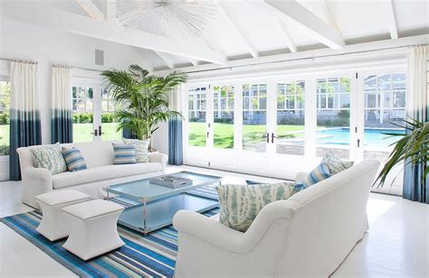 Photos Of Blue And White Living Rooms Interior Home by White And Blue Living Room With Blue Ombre Curtains