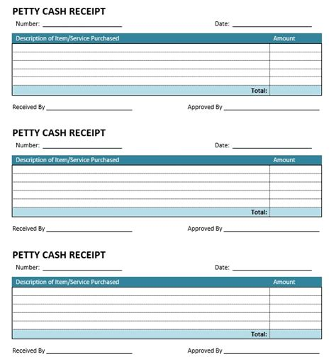 free petty receipt template 8 free sle petty receipt templates printable sles