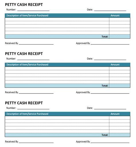 petty receipt template 8 free sle petty receipt templates printable sles