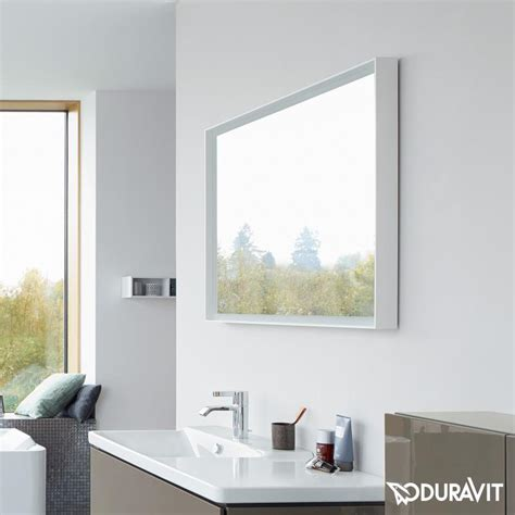 duravit bathroom mirrors l cube led bathroom mirror by duravit just bathroomware