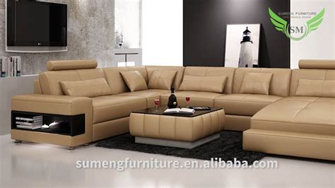 sumeng modern leather u shape sofa