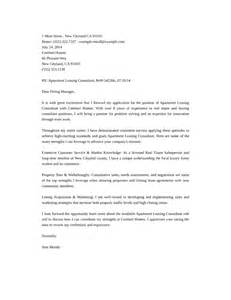 Leasing Officer Cover Letter by Apartment Leasing Consultant Cover Letter Sles And Templates
