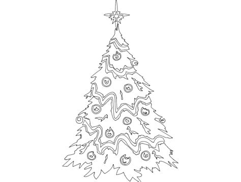 festive things christmas tree dxf file free download