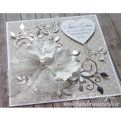 Handcrafted Wedding Cards - handmade wedding card
