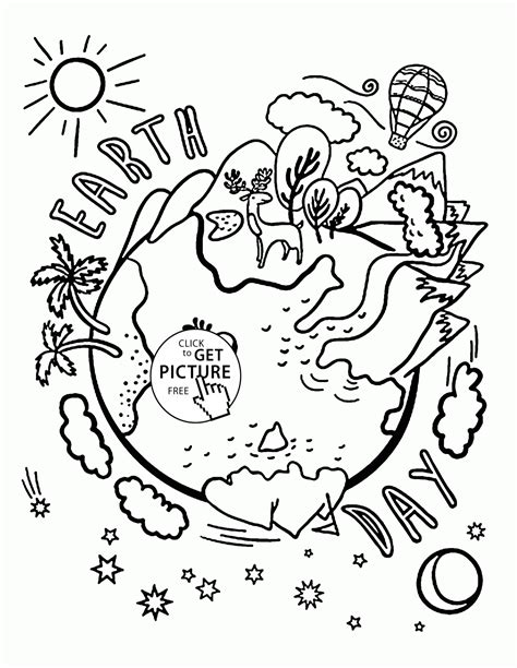 earth day coloring page design free printable earth day coloring pages and
