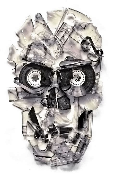 ali gulec tattoo skulls from ali gulec robotspacebrain