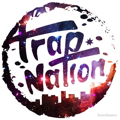 Wall Removable Sticker For Kids quot trap nation galaxy quot stickers by sumobosono redbubble