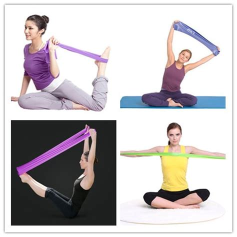 4pcs set 2015 fitness resistance bands exercise bands crossfit strength rope pilates