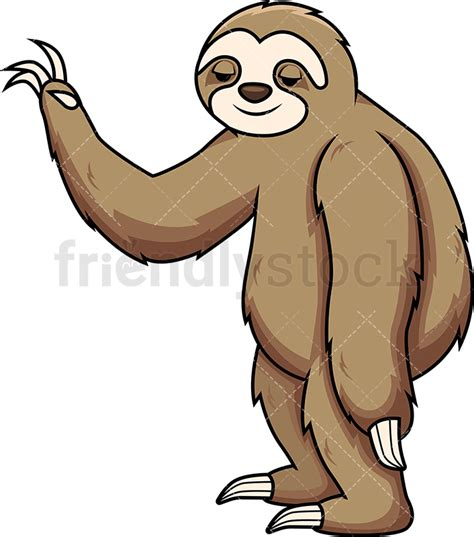 sloth clipart sloth a gesture vector clipart