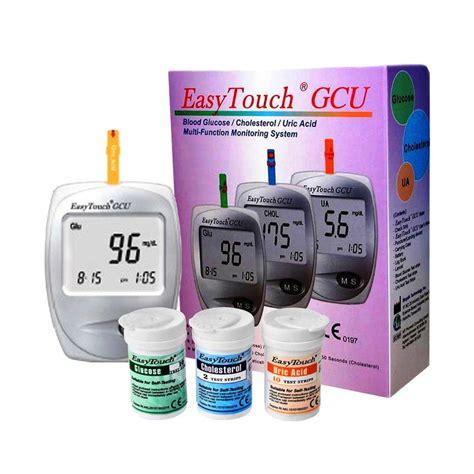 Alat Tes Darah Easytouch Gcu jual easy touch gcu gula darah asam urat kolestrol alat monitor kesehatan harga
