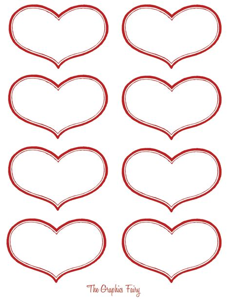 vintage valentine printable antique heart labels the