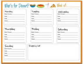 17 best ideas about weekly menu printable on pinterest