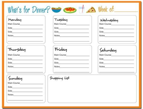 menu design what s for lunch what s for dinner free printable weekly menu planner with