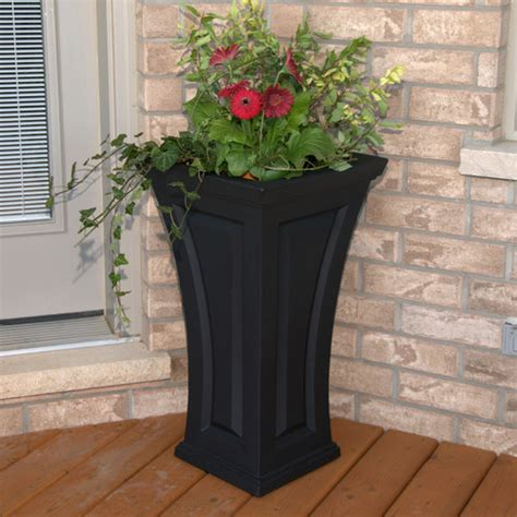 pots and planters cambridge tall curved planter modern outdoor pots and
