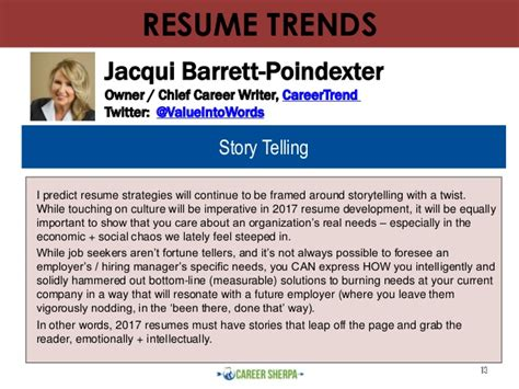Resume Trends 2017 Resume Trends For 2017