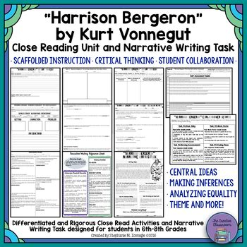 themes in harrison bergeron essay quot harrison bergeron quot by kurt vonnegut unit by the creative