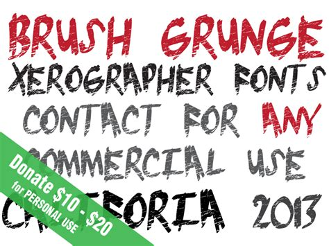 xerographer dafont brush grunge font dafont com
