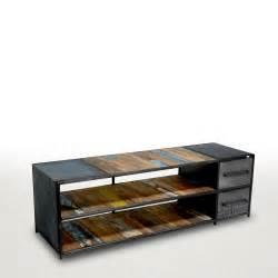 meuble tv bois et metal artzein