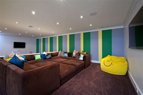 pit sofa basement room sectional theatre room