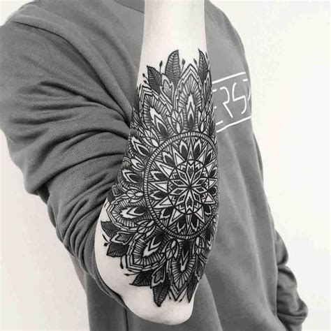 outer arm tattoo outer forearm mandala owl