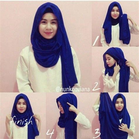 tutorial hijab simple monochrome check out this quick hijab tutorial fit for this coming