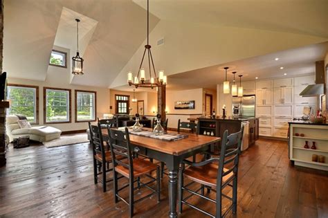 Country kitchen rustic dining room montreal by melyssa robert designer