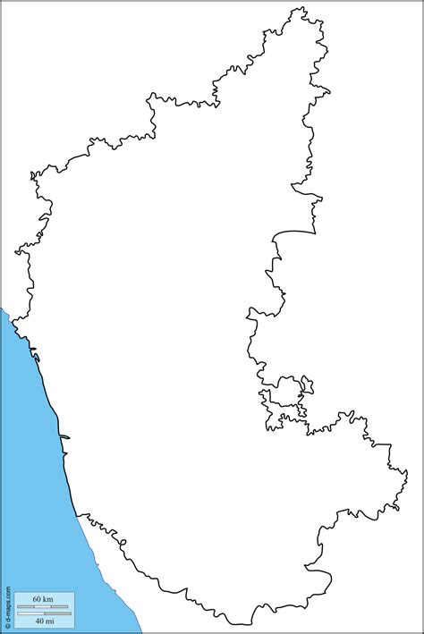 Karnataka Outline Map by Karnataka Map Clipart 19