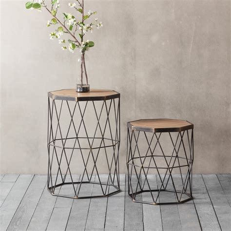 Geometric Side Table Chiltern Set Of 2 Geometric Side Table Modern Coffee Tables