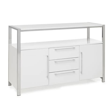 white sideboard charisma sideboard white gloss at wilko
